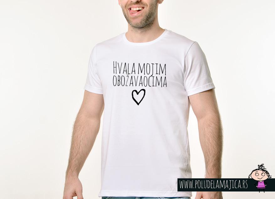 Muska Rules majica sa natpisom Hvala Mojim Obozavaocima - poludelamajica