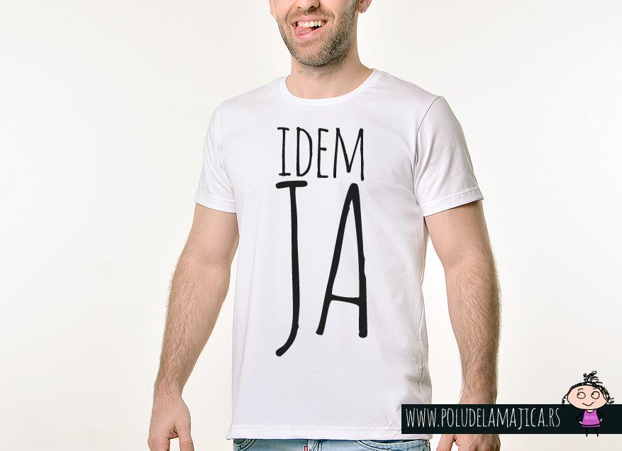Muska Rules majica sa natpisom - Idem Ja - poludelamajica