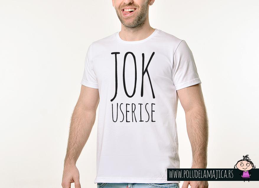 Muska Rules majica sa natpisom - Jok Useri Se - poludelamajica