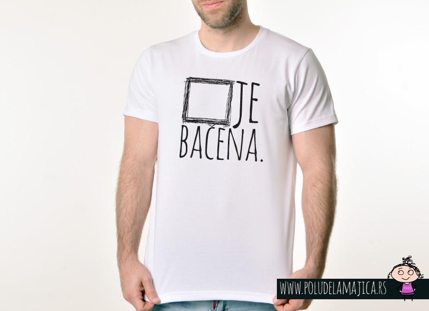 Muska Rules majica sa natpisom Kocka Je Bacena - poludelamajica