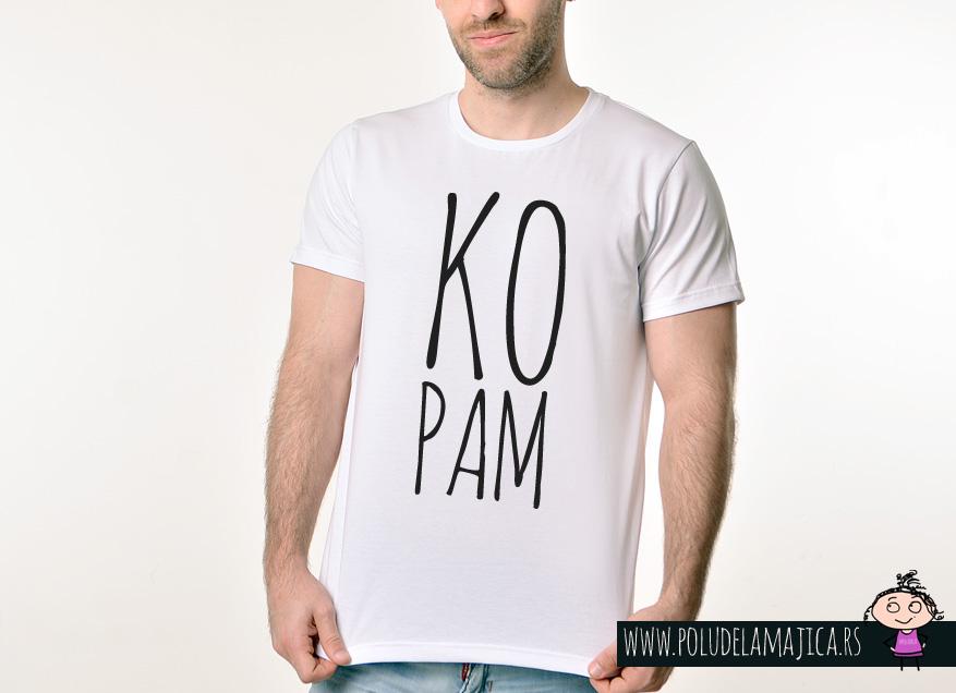 Muska Rules majica sa natpisom - Kopam - poludelamajica