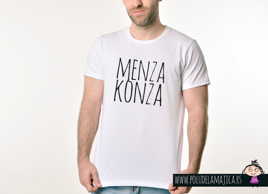 Muska Rules majica sa natpisom Menza Konza - poludelamajica