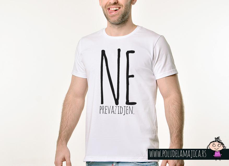 Muska Rules majica sa natpisom - Neprevazidjen - poludelamajica