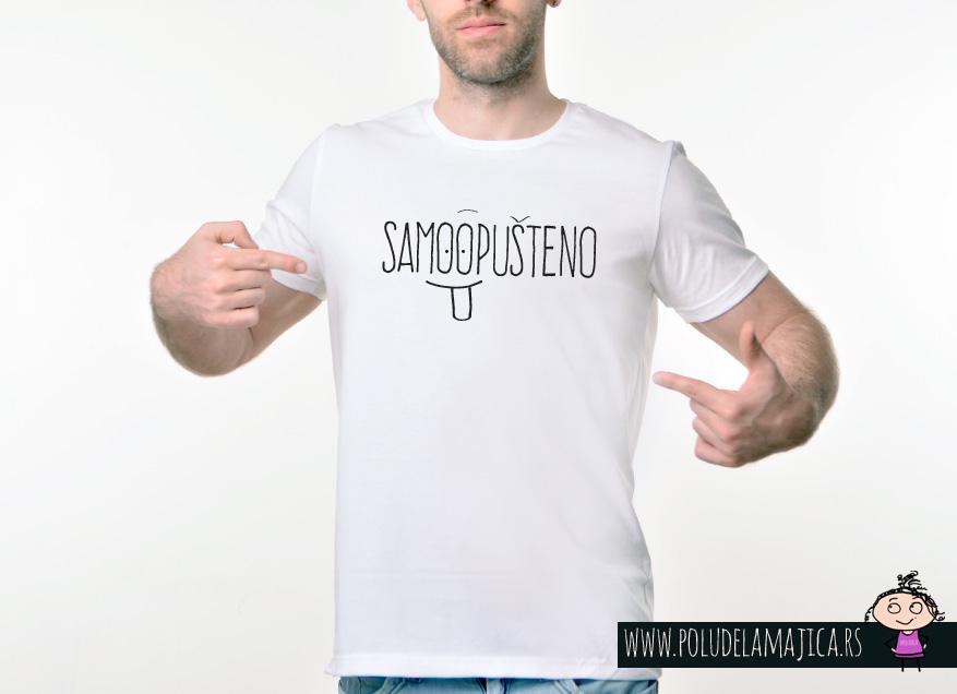 Muska Rules majica sa natpisom Samo Opusteno - poludelamajica