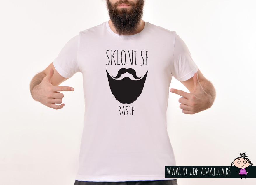 Muska Rules majica sa natpisom Skloni Se Raste - poludelamajica