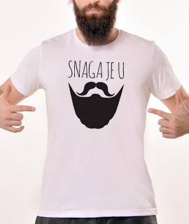 Muska Rules majica sa natpisom Snaga Je U Bradi - Proizvod