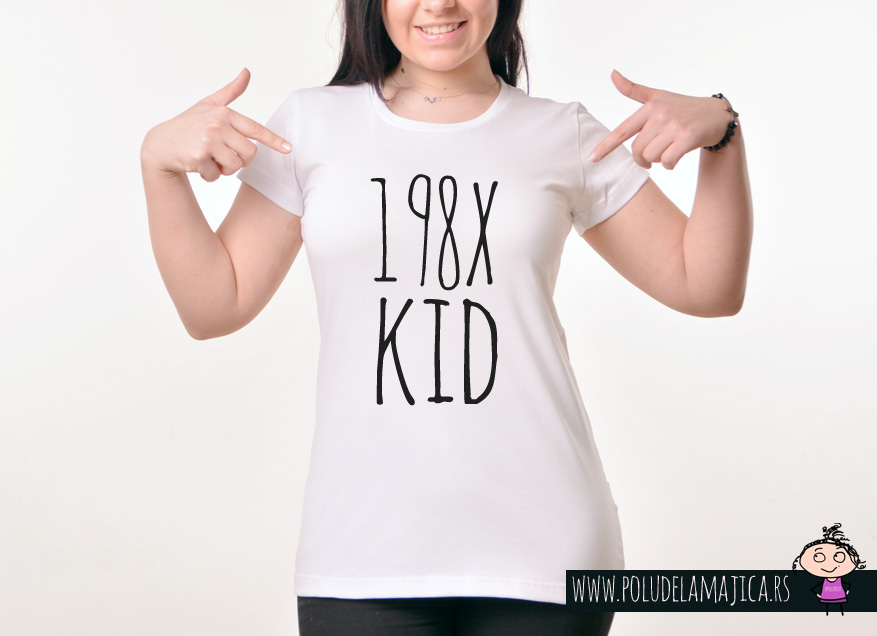 Zenska Rules majica sa natpisom 198x kid - poludelamajica