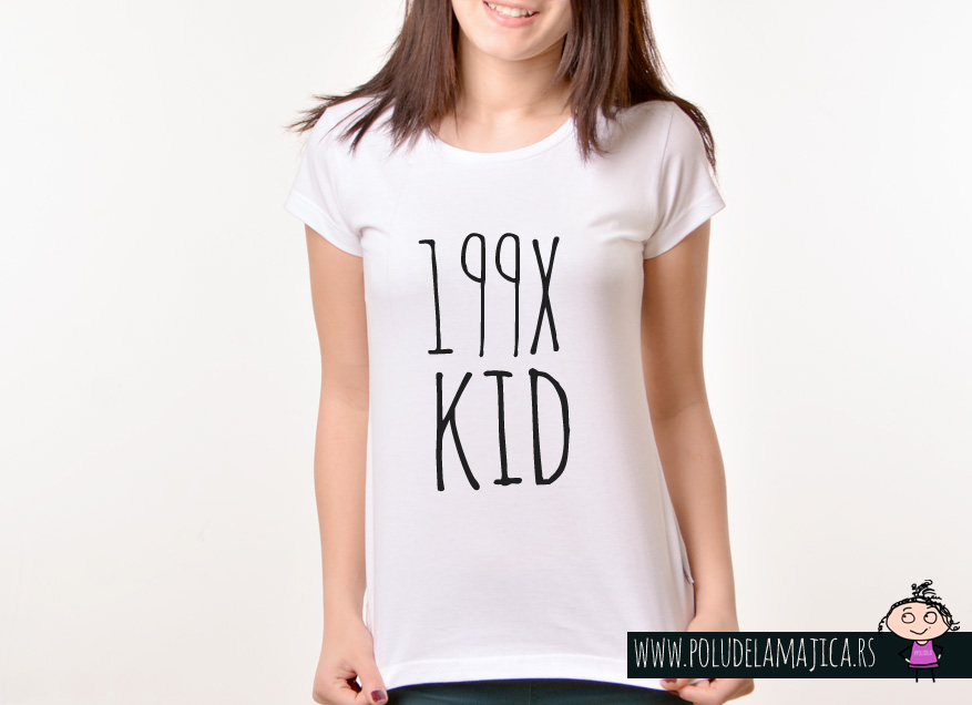 Zenska Rules majica sa natpisom 199x kid - poludelamajica