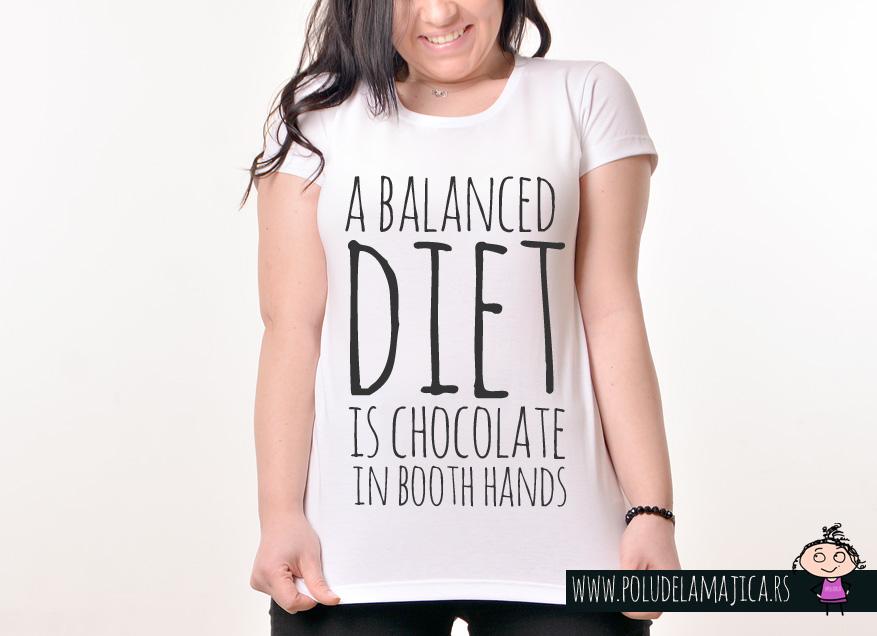 Zenska Rules majica sa natpisom A Balanced Died - poludelamajica