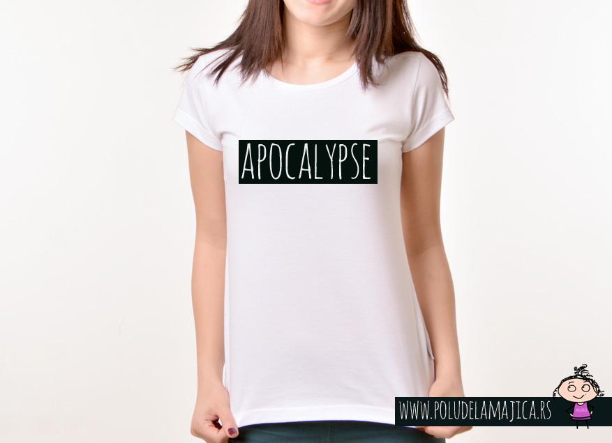 Zenska Rules majica sa natpisom Apocalypse - poludelamajica
