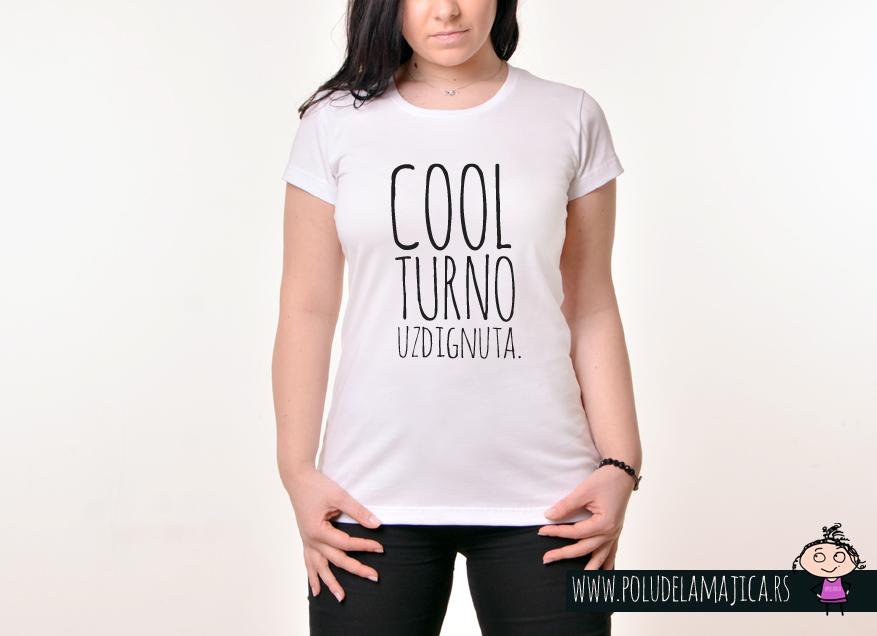 Zenska Rules majica sa natpisom Coolturno uzdignuta - poludelamajica