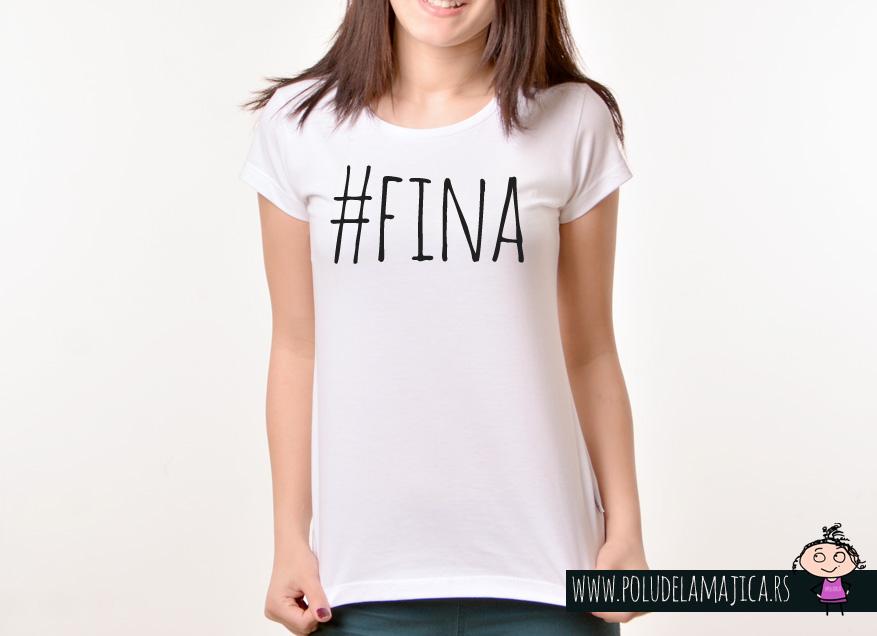 Zenska Rules majica sa natpisom Fina - poludelamajica