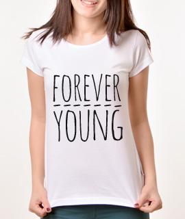 Zenska Rules majica sa natpisom Forever Young - Proizvod