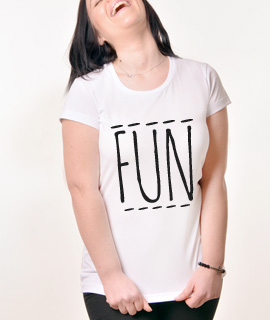 Zenska Rules majica sa natpisom Fun - Proizvod