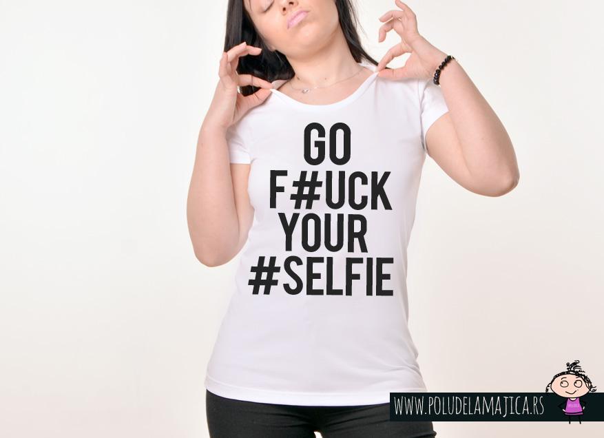 Zenska Rules majica sa natpisom Go Fck Yr Slf - poludelamajica
