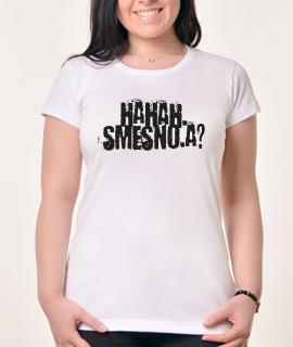 Zenska Rules majica sa natpisom Haha Smesno A -  Proizvod