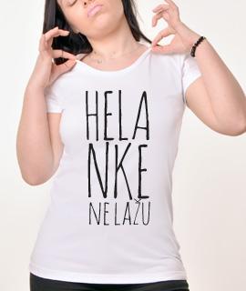 Zenska Rules majica sa natpisom Helanke Ne Lazu - Proizvod