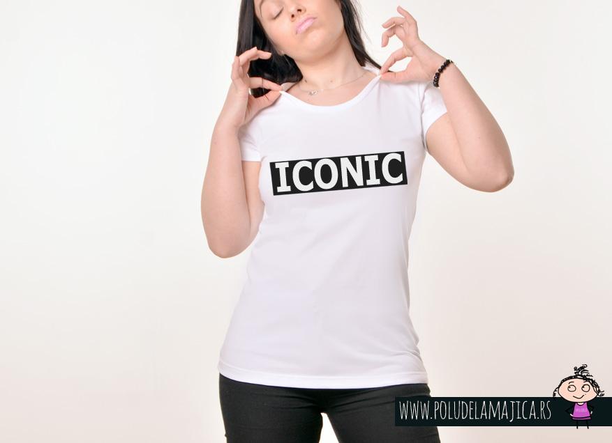 Zenska Rules majica sa natpisom Iconic - poludelamajica