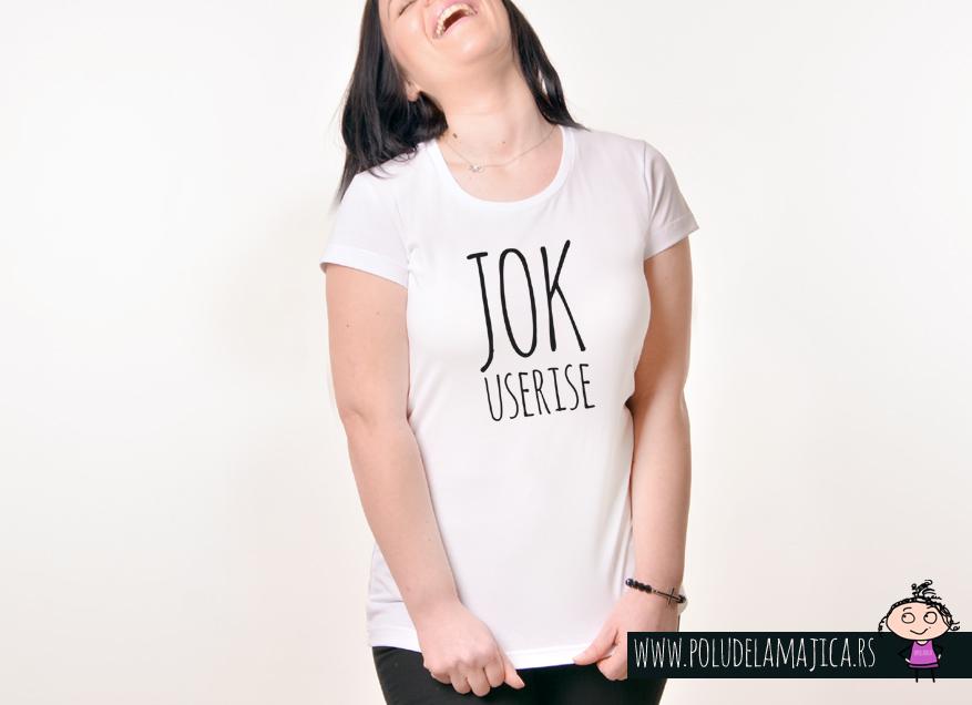 Zenska Rules majica sa natpisom Jok Useri se - poludelamajica