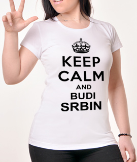 Zenska Rules majica sa natpisom Keep Calm and budi srbin-  Proizvod