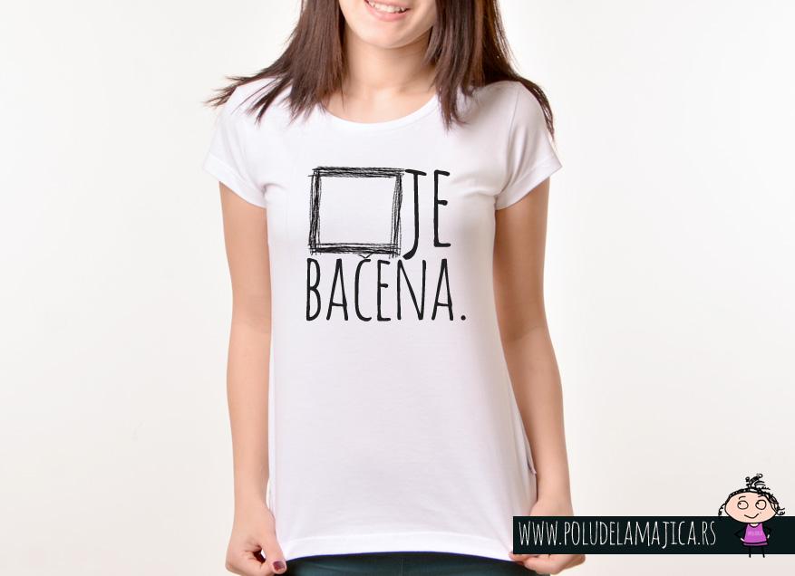 Zenska Rules majica sa natpisom Kocka Je Bacena - poludelamajica