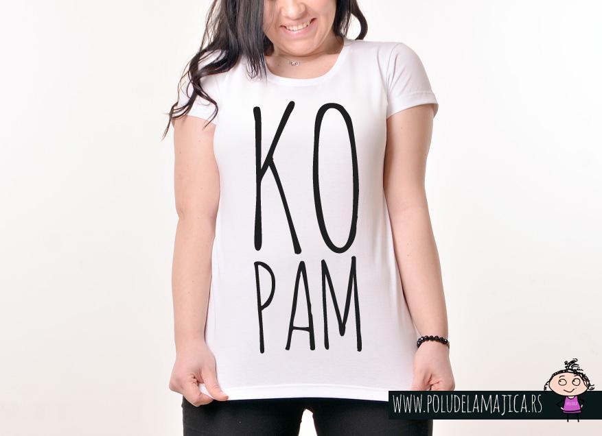 Zenska Rules majica sa natpisom Kopam - poludelamajica