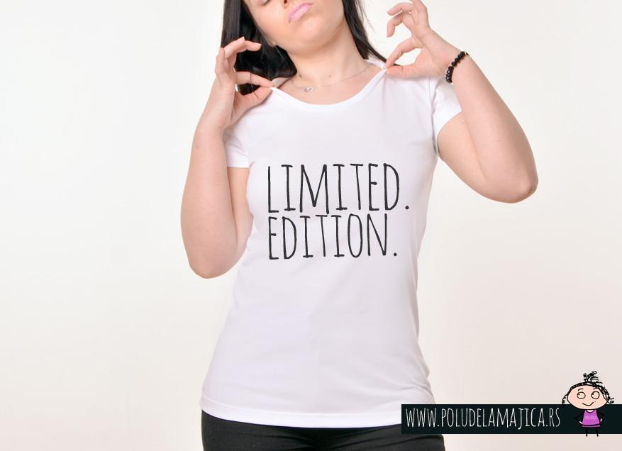 Zenska Rules majica sa natpisom Limited Edition - poludelamajica