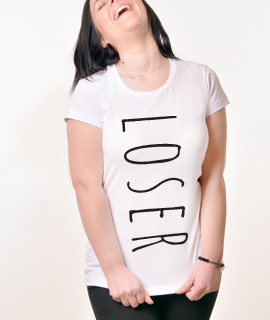 Zenska Rules majica sa natpisom Loser - Proizvod