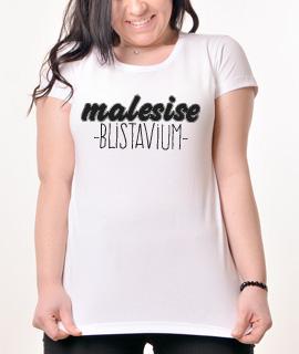 Zenska Rules majica sa natpisom Male Sise Blistavi Um - Proizvod