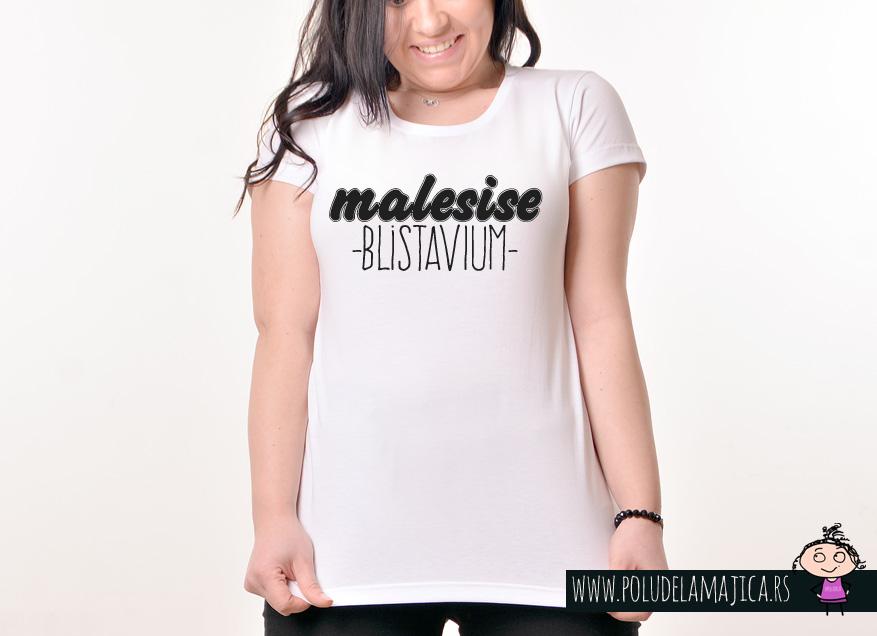 Zenska Rules majica sa natpisom Male Sise Blistavi Um - poludelamajica