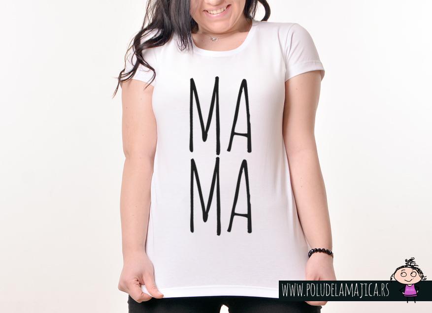 Zenska Rules majica sa natpisom Mama - poludelamajica