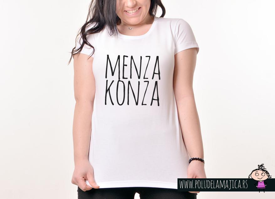 Zenska Rules majica sa natpisom Menza Konza - poludelamajica