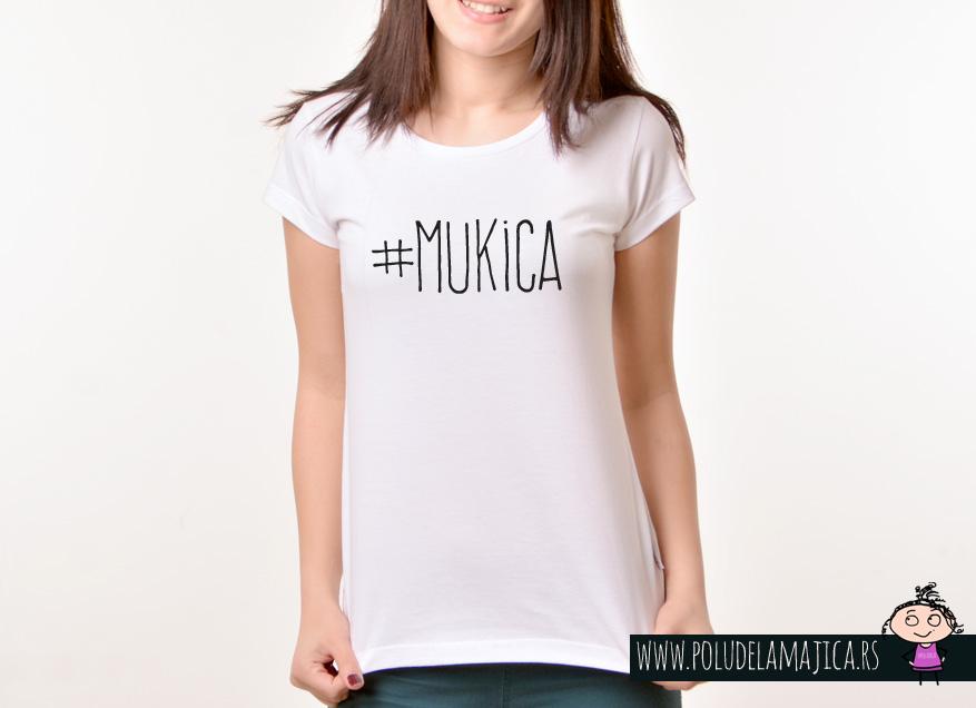 Zenska Rules majica sa natpisom Mukica - poludelamajica