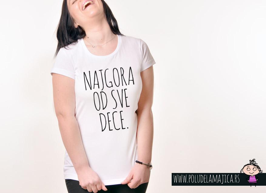 Zenska Rules majica sa natpisom Nagora Od Sve Dece - poludelamajica