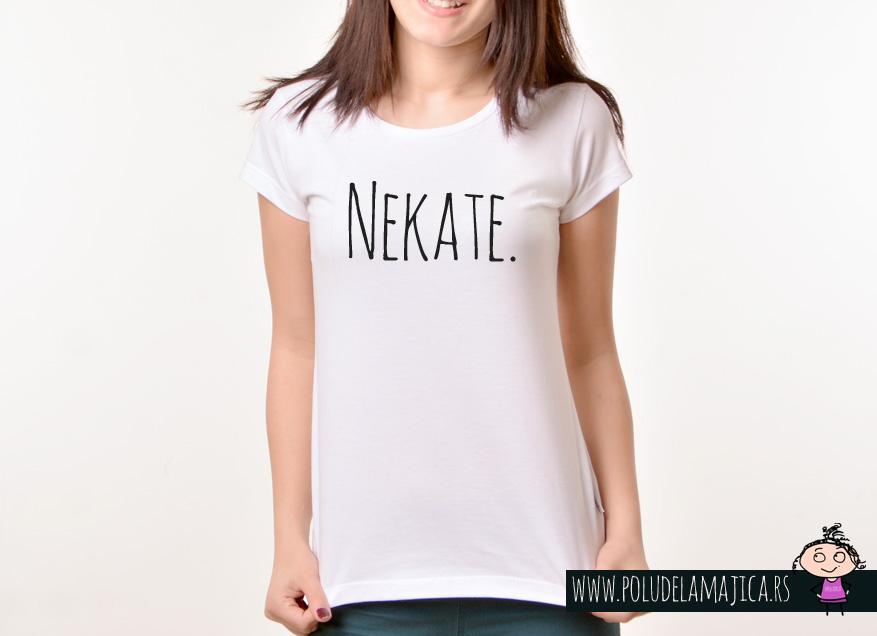Zenska Rules majica sa natpisom Neka te - poludelamajica