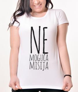 Zenska Rules majica sa natpisom Nemoguca misija - Proizvod