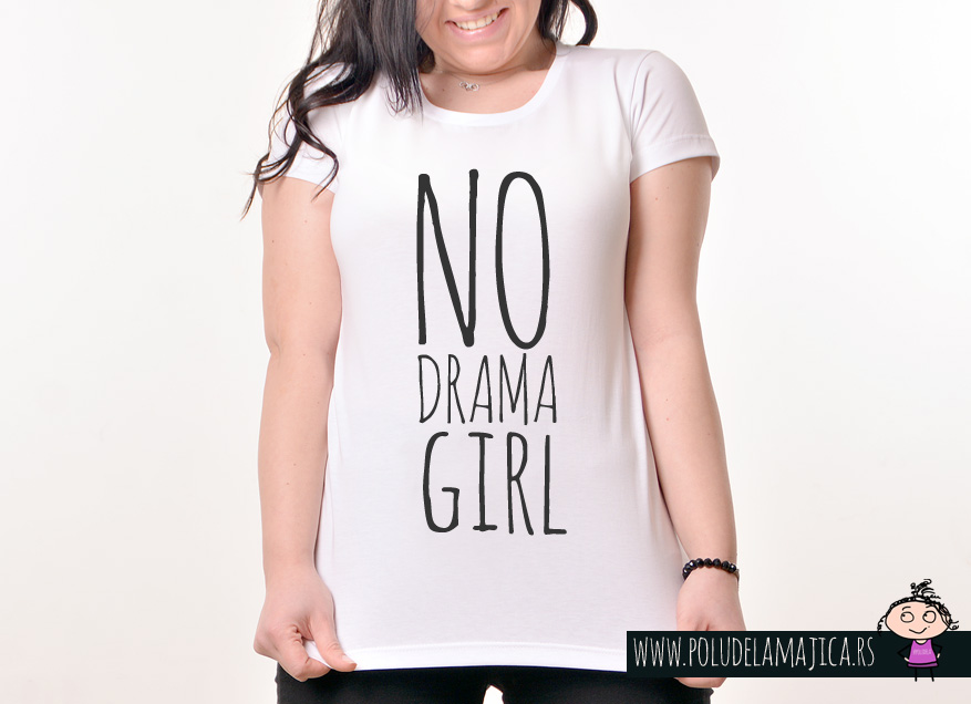 Zenska Rules majica sa natpisom No Drama Girl- poludelamajica