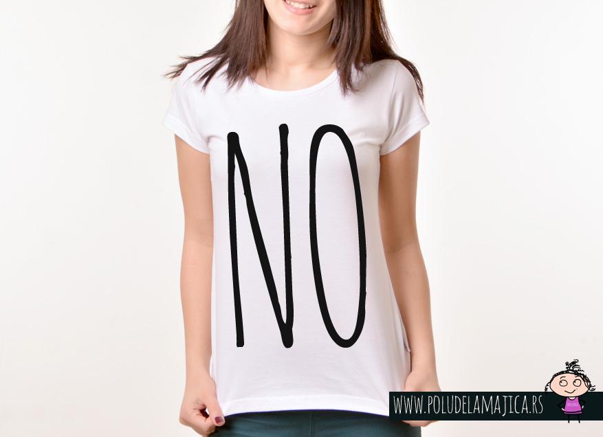 Zenska Rules majica sa natpisom No - poludelamajica