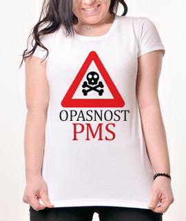 Zenska Rules majica sa natpisom Opasnost PMS-  Proizvod
