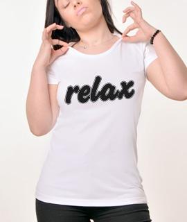 Zenska Rules majica sa natpisom Relax - Proizvod