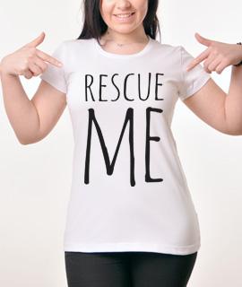 Zenska Rules majica sa natpisom Rescue Me -  Proizvod