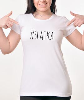 Zenska Rules majica sa natpisom Slatka - Proizvod