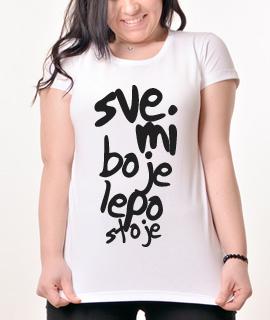 Zenska Rules majica sa natpisom Sve Mi Boje Lepo Stoje - Proizvod