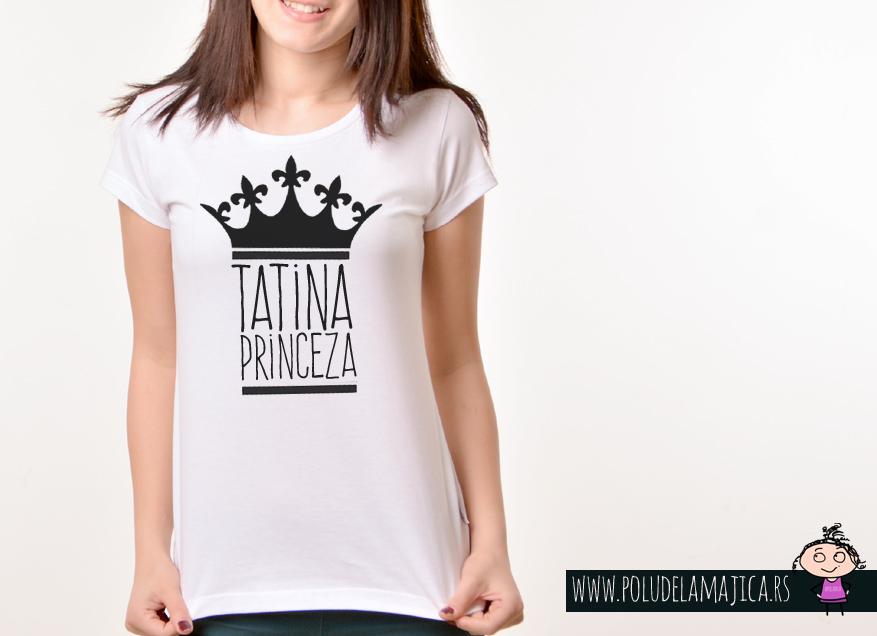 Zenska Rules majica sa natpisom Tatina Princeza - poludelamajica