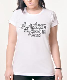 Zenska Rules majica sa natpisom Ujedam Gladna Sam - Proizvod