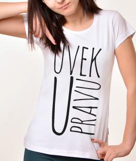 Zenska Rules majica sa natpisom Uvek u pravu - Proizvod