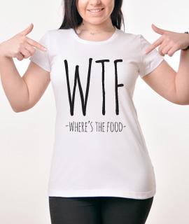 Zenska Rules majica sa natpisom Where Is The Food - Proizvod