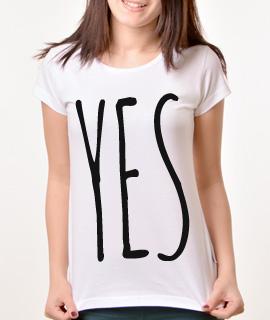 Zenska Rules majica sa natpisom Yes - Proizvod