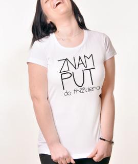 Zenska Rules majica sa natpisom Znam put do frizidera - Proizvod