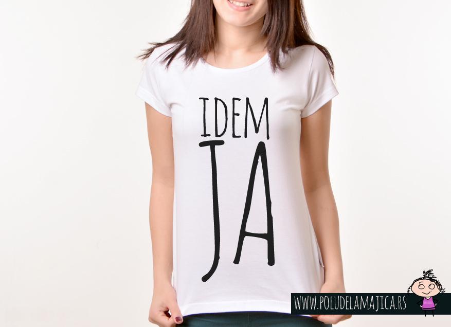Zenska Rules majica sa natpisom idem ja - poludelamajica